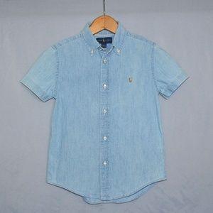 Ralph Lauren Boys Button Down Shirt Size 7